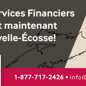 Rail Services Financiers maintenant en Nouvelle-Écosse